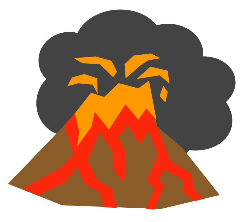 clipart royalty free download Realistic Clipart volcano