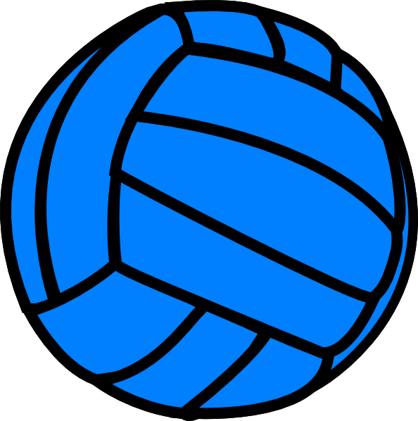graphic download Blue Volleyball Clip Art at Clker