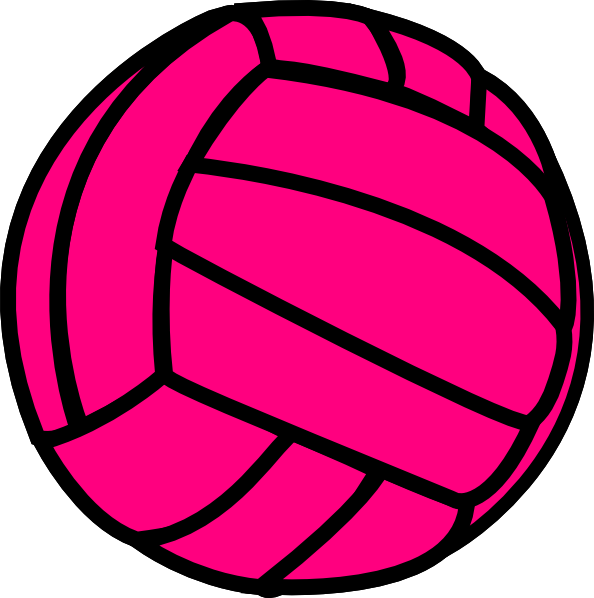 vector black and white Blue clipart volleyball. Pink clip art at.