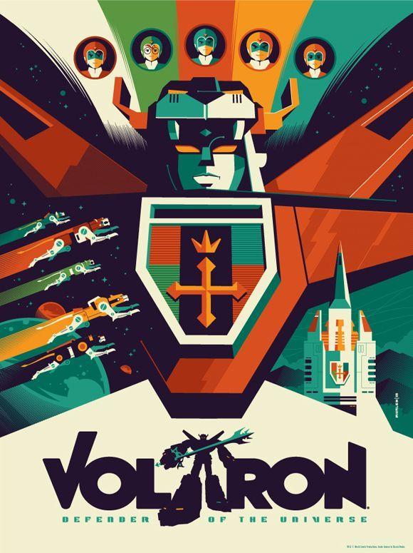 jpg transparent download Voltron vector. Art poster by tom.