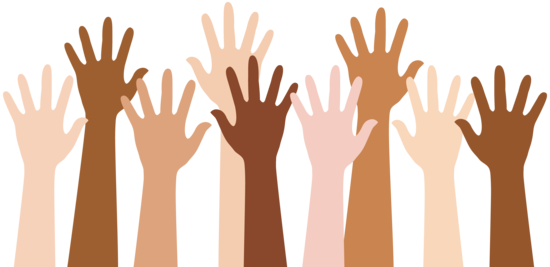 vector royalty free library Hand raised . Volunteer clipart