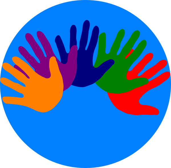 freeuse download Volunteering clipart. Hands various colors clip