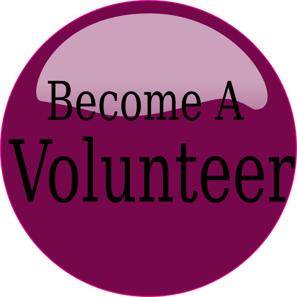 jpg black and white library Volunteering clipart. Become a volunteer purple