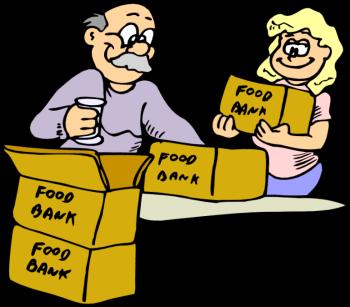 png black and white Clip art volunteers . Volunteering clipart food pantry