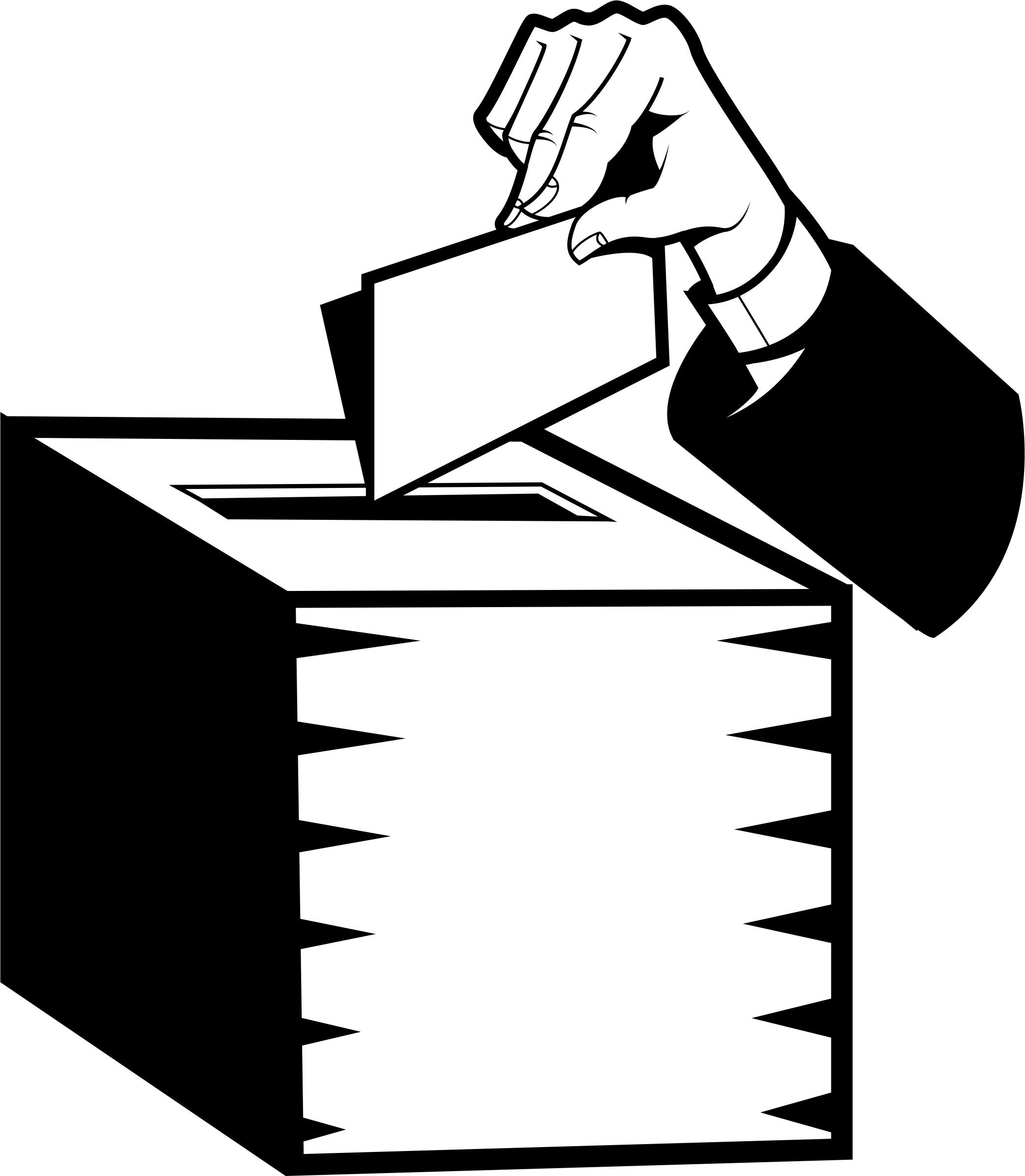 svg Vote clipart black and white. Box big image png.
