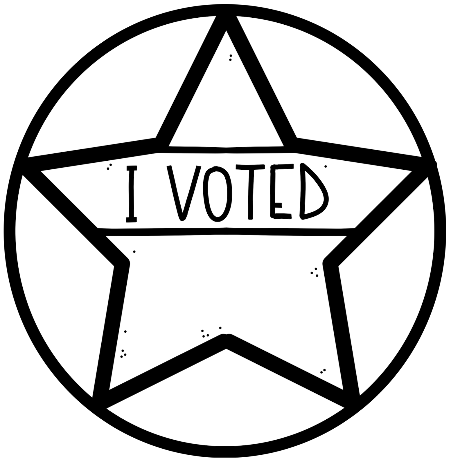 picture freeuse library Vote clipart black and white. Educlips design are you.