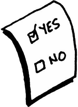 vector freeuse library Yes No Voting Clipart