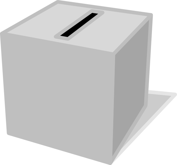 banner black and white download Voting Box Clip Art at Clker