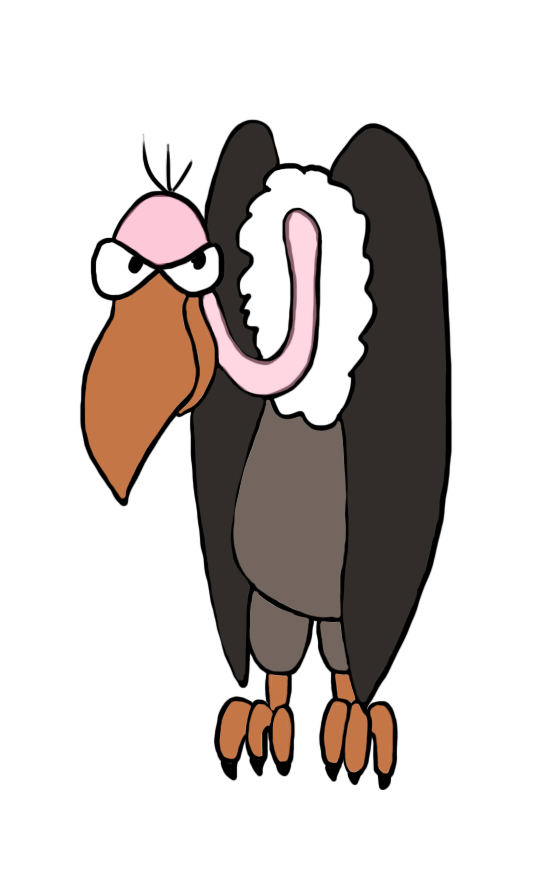 picture stock Drawing in color appliqu. Vulture clipart.