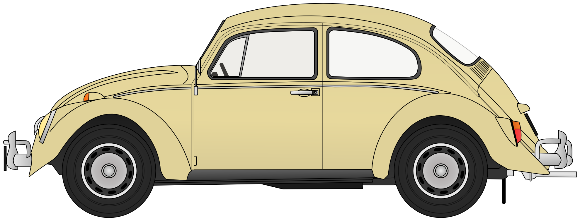picture black and white download Vw Beetle Clipart