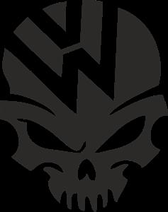 clip art transparent library Volkswagen logo cdr free. Vector emblem skull