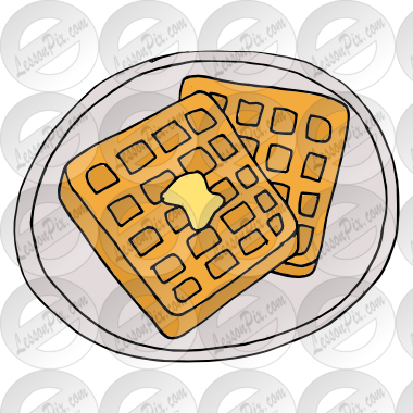 graphic black and white Waffle clipart. Picture for classroom therapy
