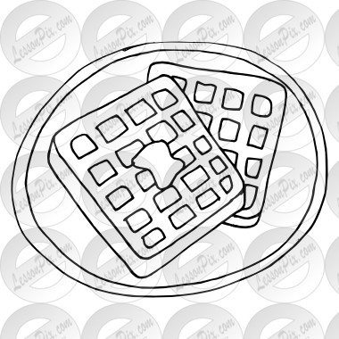 jpg Waffle clipart black and white. Outline for classroom therapy