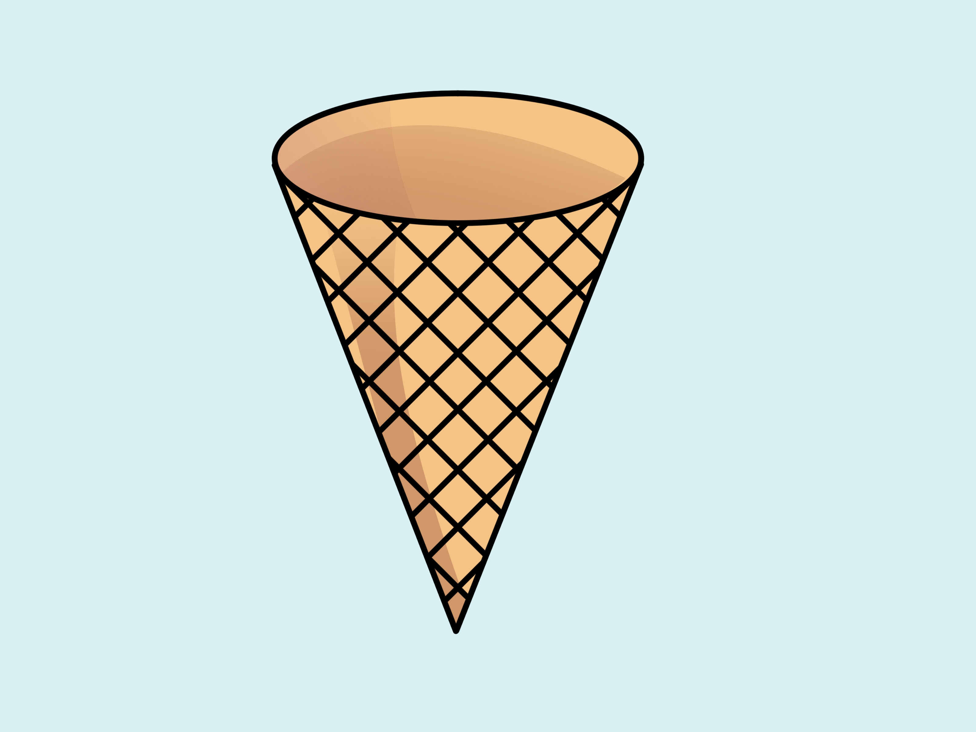 jpg royalty free stock Free images of ice. Waffle cone clipart