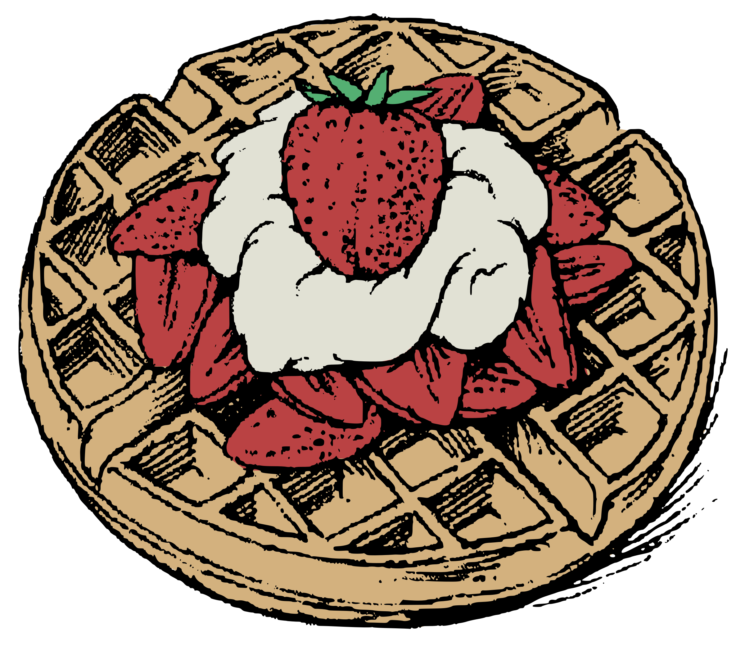 graphic royalty free download Waffles clipart. Belgian colour big image