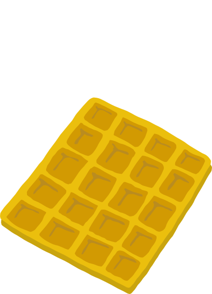jpg library Waffle clipart png. Clip art at clker