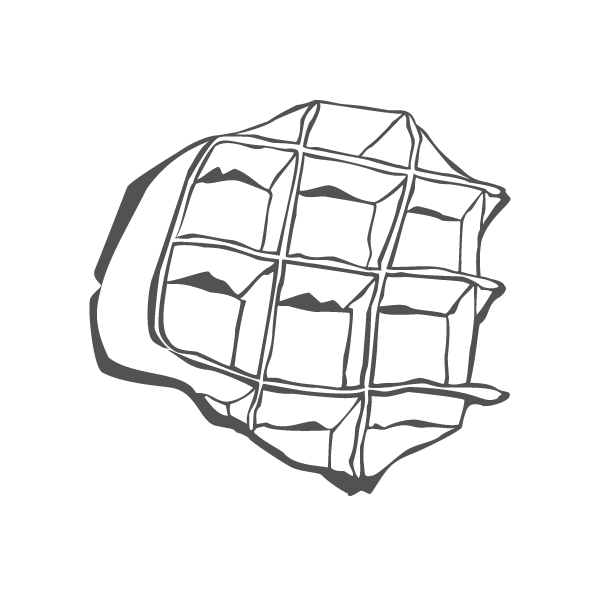 clip black and white Waffle Drawing at GetDrawings