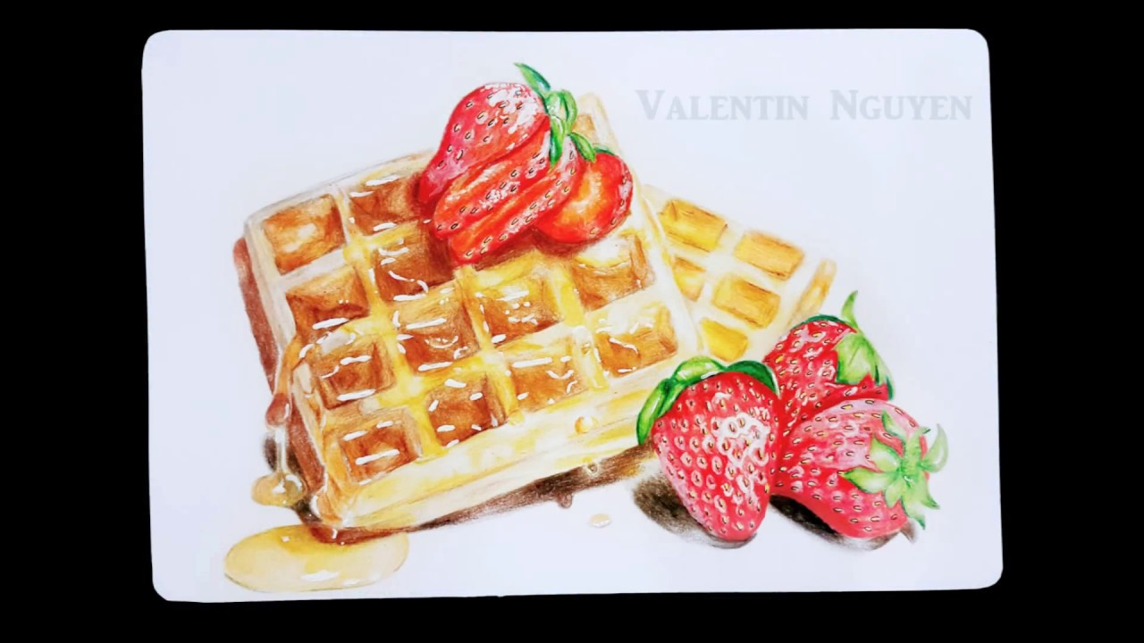 image black and white Time lapse . Waffles drawing.