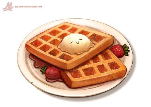 clip transparent Waffle at paintingvalley com. Waffles drawing.