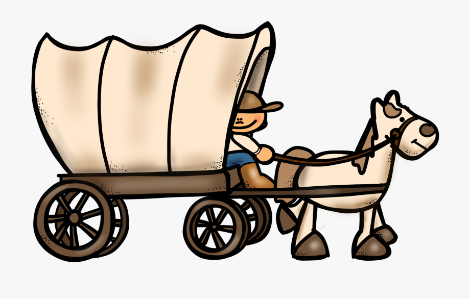 graphic royalty free download Oregon trail cliparts . Wagon clipart