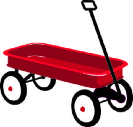 vector royalty free download Wagon clipart. Red station