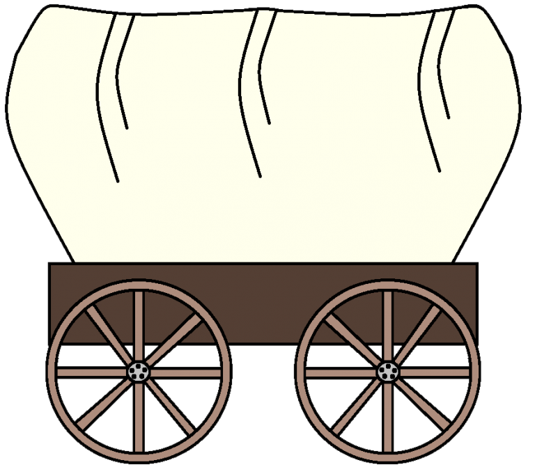 jpg black and white download Wagon clipart. Western clip art for