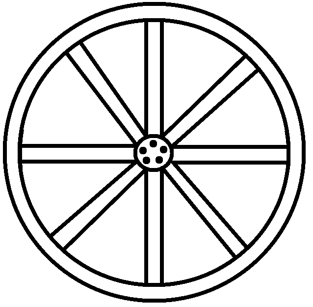 clip library stock Wheel black and white clipart. Wagon drawing at getdrawings
