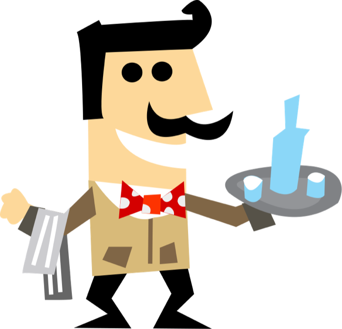 vector free stock Free Clipart of Waiters