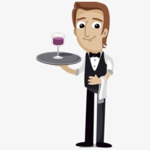 banner download Free cliparts silhouettes cartoons. Waiter clipart.
