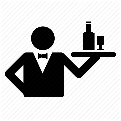 clipart black and white library Waiter clipart sheif. Waitress loft wallpapers