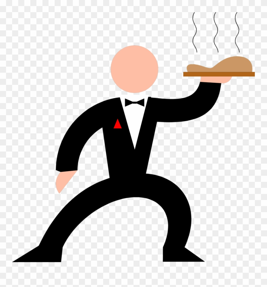 png freeuse stock Waiter hand clipart. Cartoon transparent background
