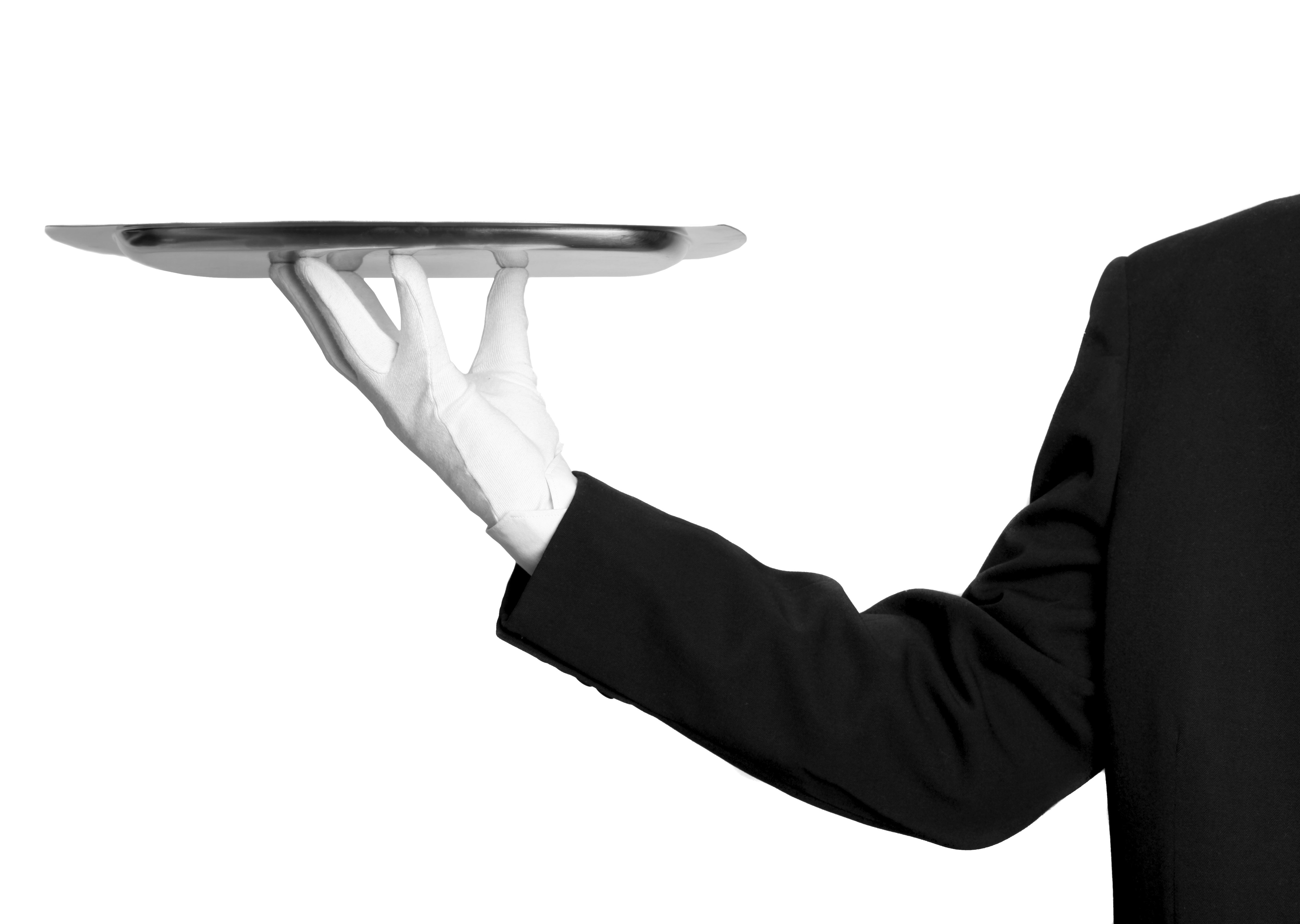 graphic royalty free library Png image purepng free. Waiter hand clipart