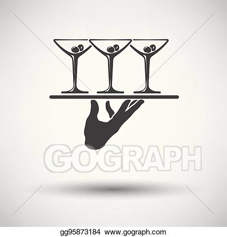 png transparent stock Waiter hand clipart. Eps vector icon stock