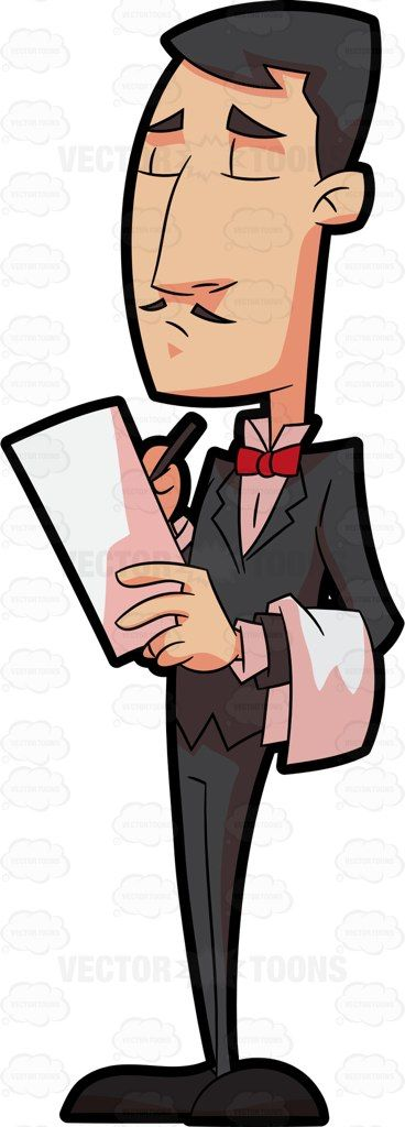 png download A fine dining orders. Waiter taking order clipart