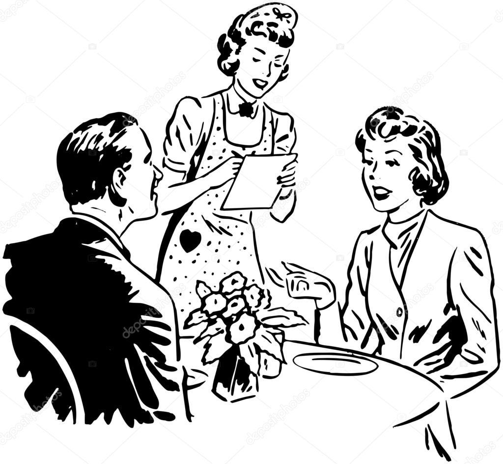 clipart library stock Portal . Waiter taking order clipart