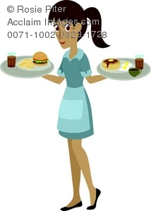 picture free download Illustration of a taking. Waitress clipart