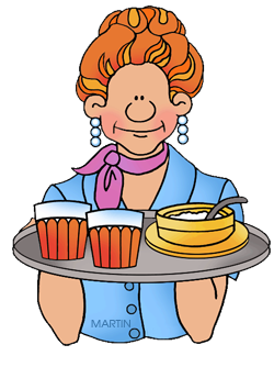svg library Free clip art by. Waitress clipart