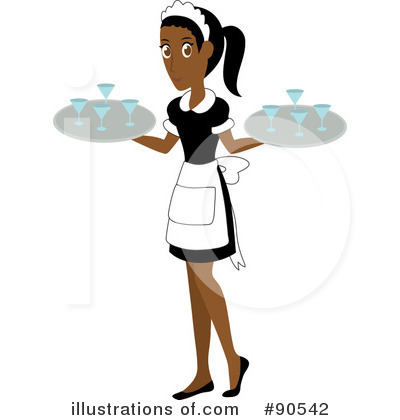 png library library Waitress clipart. Illustration by rosie piter