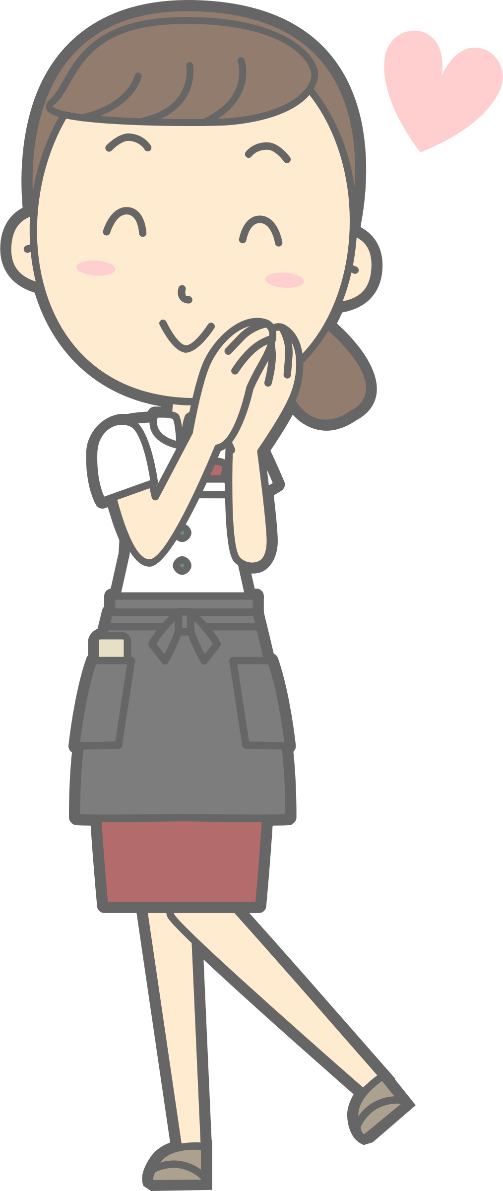 graphic library stock Young in love big. Waitress clipart