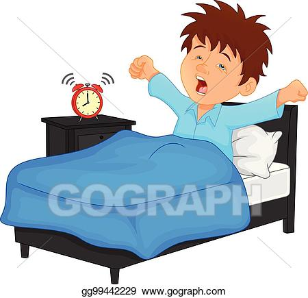vector free download Vector art little boy. Waking clipart