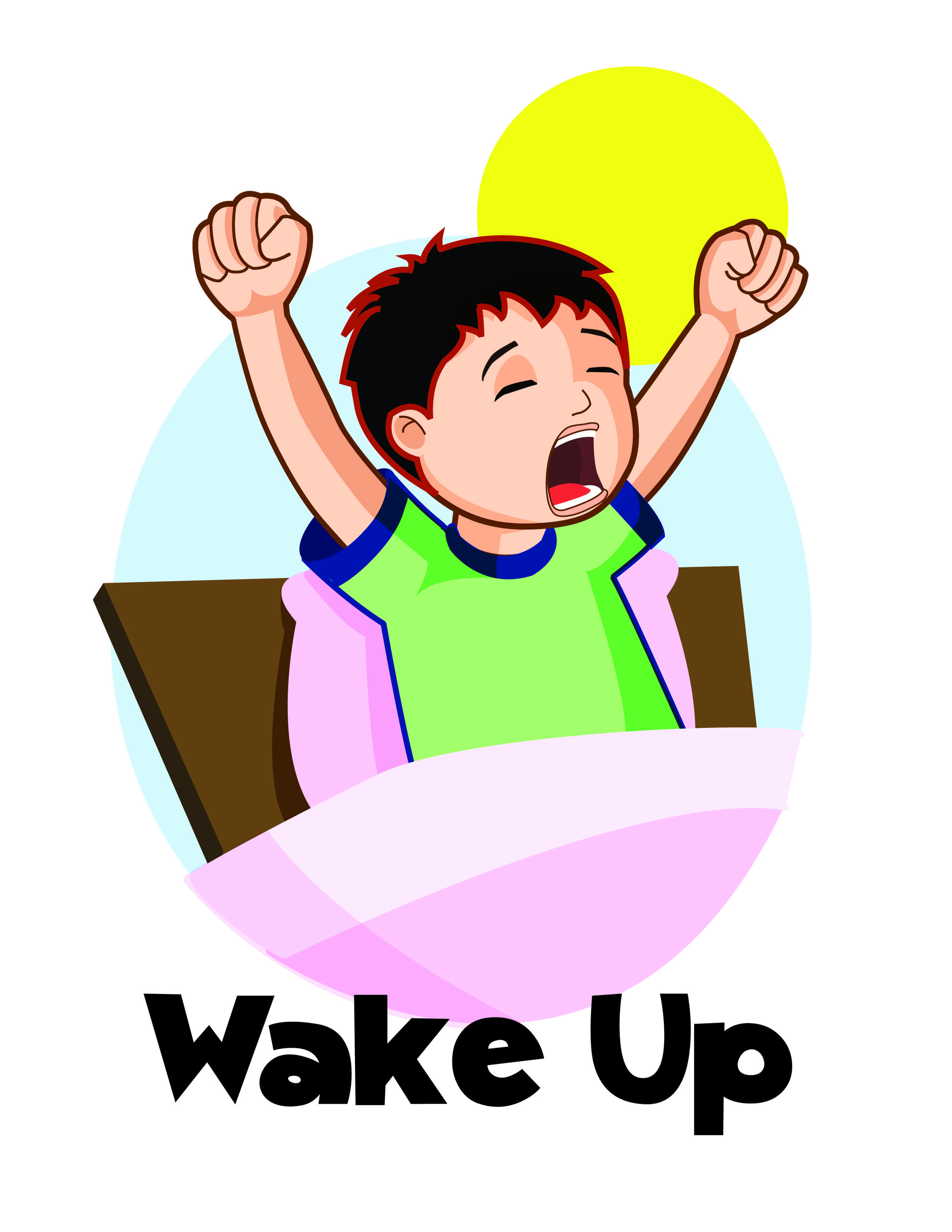 graphic free stock Waking clipart.  wake up clip