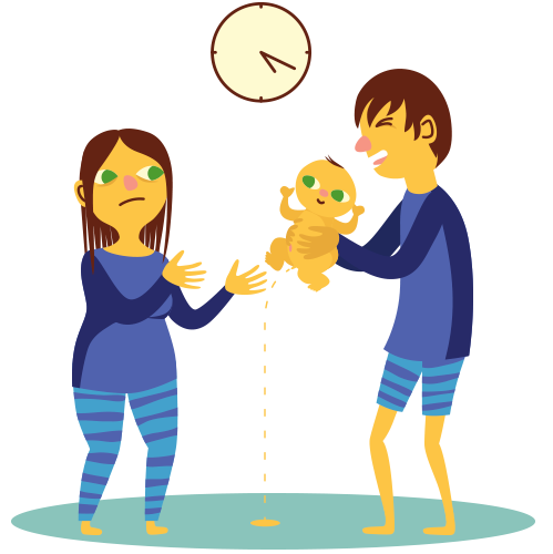 graphic free stock Wake clipart circadian rhythm. Baby s sleep issues