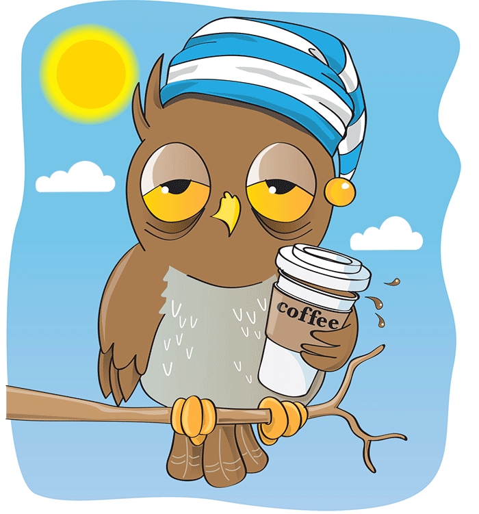 clip transparent library Effects of caffeine on. Wake clipart circadian rhythm