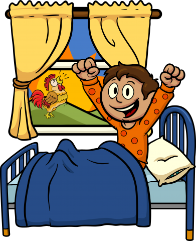 clip art black and white library Engage teachers april newsletter. Wake clipart gets up