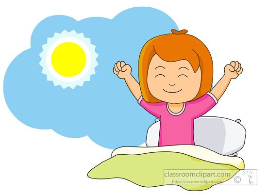 png black and white Girl up and stretching. Waking clipart morning
