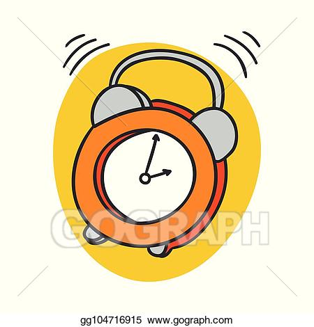 svg freeuse library Eps vector alarm clock. Wake clipart morning time