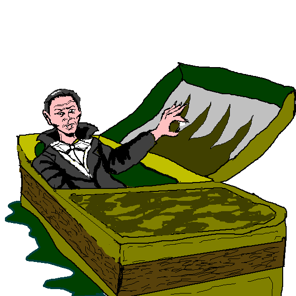 clip art library stock Waking clipart. Up free count dracula