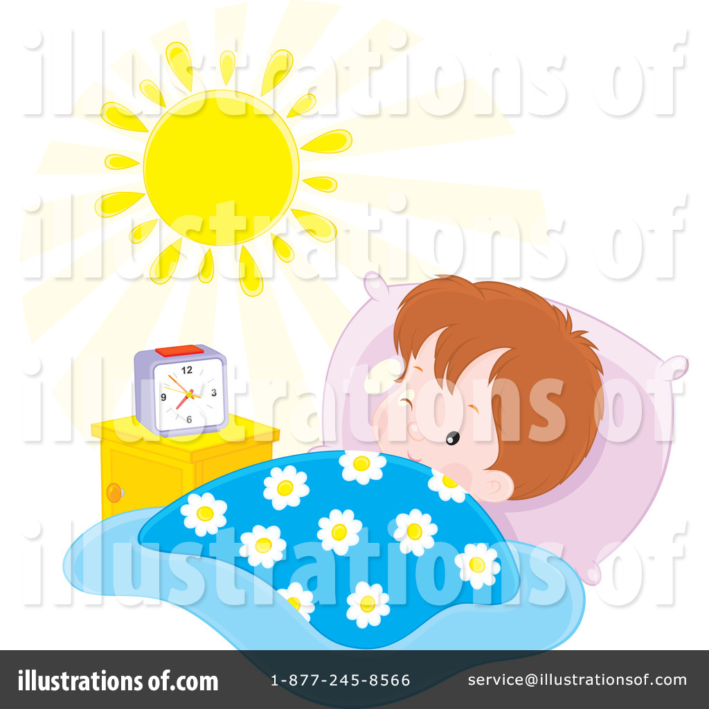 graphic freeuse stock Waking clipart asleep. Wake up illustration by