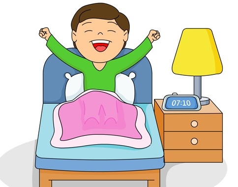 jpg library stock Free morning download clip. Waking clipart bangun.