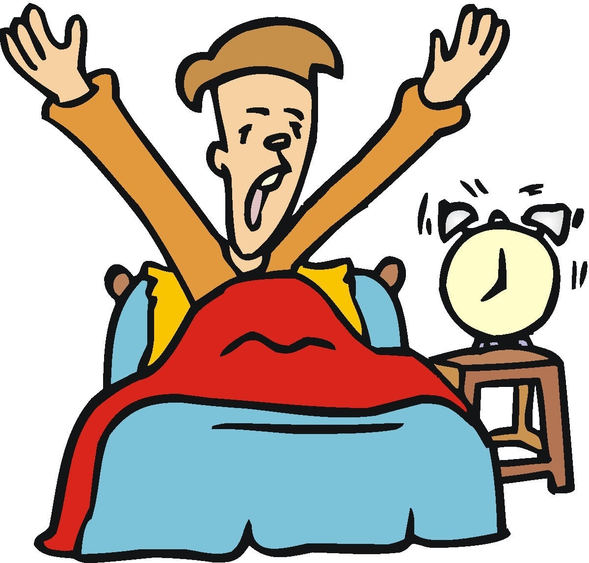 picture stock Up in pertaining to. Waking clipart bed